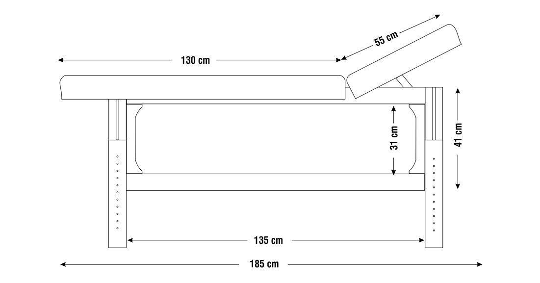 Dimensiuni perna  două sectiuni, model Lotus, schita 1